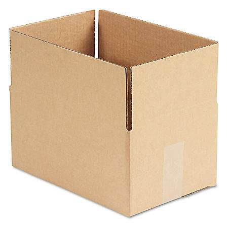 "General Supply Brown Corrugated - Fixed-Depth Shipping Boxes, 12"" L x 8"" W x 6"" H, 25/Bundle"