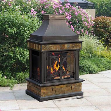 Member S Mark Heirloom Slate Wood Burning Fireplace Sam