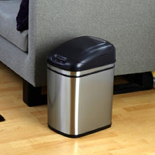 Nine Stars Sensor Trash Can, Stainless Steel (6.3 gal)