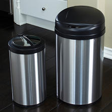 Nine Stars Trash Can - Stainless Steel - 10.5 Gallons / 3.2 Gallons -  2 Pack