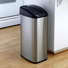 Nine Stars Sensor Trash Can, Stainless Steel (13.2 gal)