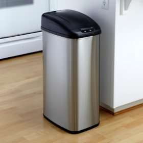 Nine Stars Sensor Trash Can, Stainless Steel (13.2 gal)