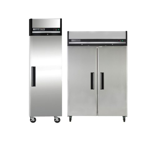 Maxx Cold Commercial X-Series Stainless Steel Refrigerator and Freezer Bundle Package