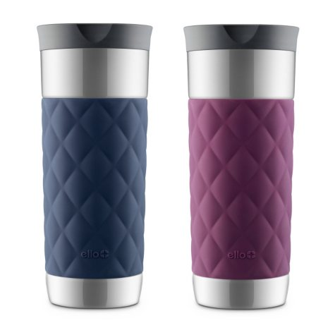 Ello Parson Stainless-Steel Travel Mugs, 2-Pack (Assorted Colors)