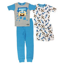 Boys' Minecraft 4-Piece Cotton Pajama Set