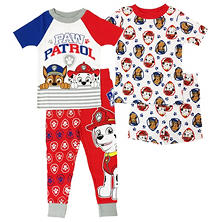 Boys' Infant & Toddler Paw Patrol 4-Piece Cotton Pajama Set