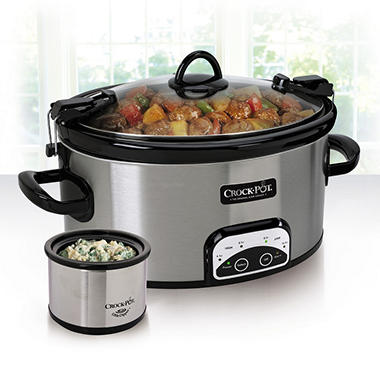 Crock-Pot 6-Qt. Travel and Serve with Little Dipper Warmer