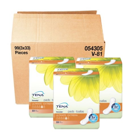 TENA Incontinence Pad for Woman Bundle, Ultimate Regular (99 ct.)