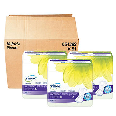 TENA Incontinence Pad for Women Bundle, Overnight (84 ct.)