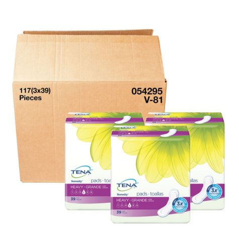 TENA Incontinence Pad for Women Bundle, Heavy Long (117 ct.)