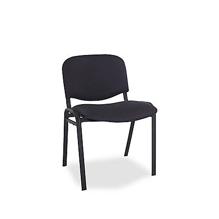 Alera Continental Series Stacking Chairs, Black - 4 Pack