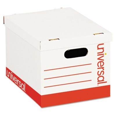 Universal Economy Storage Box, Lift Off Lid, White (Letter/Legal,