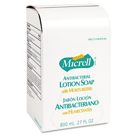 Micrell Antibacterial Lotion Soap Refill (800ml, 12 bags)