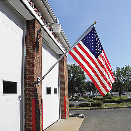 Annin 8' Spinning Pole and 4 x 6 Nyl-Glo U.S. Flag Wall-Mount Set