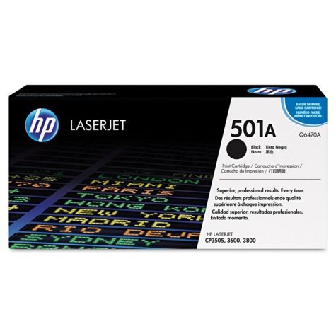 HP 501A Original Laser Jet Toner Cartridge, Select Color