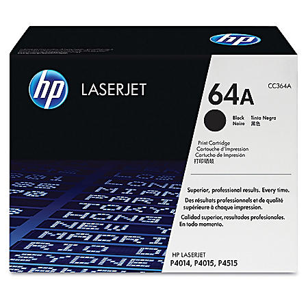 HP 64A Original Laser Jet Toner Cartridge, Black (10,000 Page Yield)