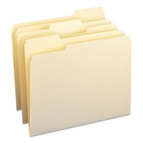 Smead 1/3 Cut Assorted Position Tab File Folders, Manila (Letter, 100ct.)