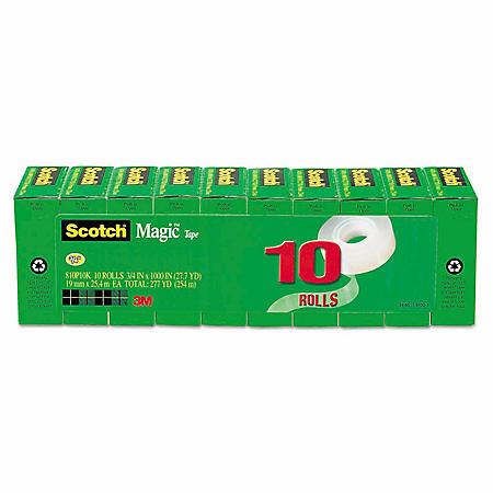 """Scotch Magic Tape, 3/4"""" x 1000"""", 1"""" Core, Select Quantity"""