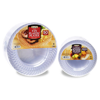 Daily Chef Clear Plastic Plate Bundle (150 ct.)  sc 1 st  Samu0027s Club & Daily Chef Clear Plastic Plate Bundle (150 ct.) - Samu0027s Club