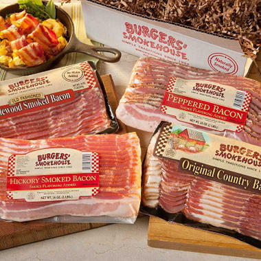 Burgers' Smokehouse Sliced Bacon Sampler (1 lb. pack, 4 ct.)