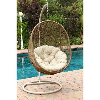 Regency Outdoor Light Beige Wicker Swing Chair Sam S Club