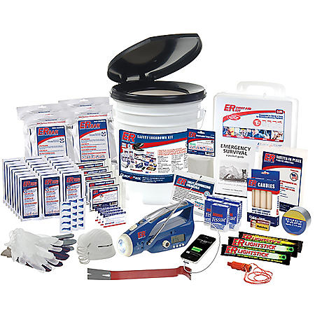 Safety Lockdown Container Survival Kit (4 Person/3 Day Supply)