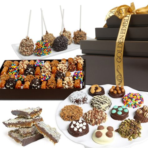 Artisan Deluxe Chocolate-Covered Gift Basket
