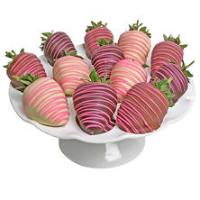 Pink Belgian Chocolate-Covered Strawberries (12 pc.)