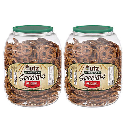 Utz Sourdough Specials Pretzel Barrels 52 oz. (2 pk.)
