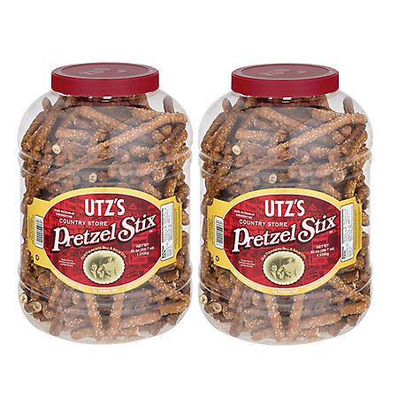 Utz Country Store Pretzel Stix Barrels (55 oz., 2 ct.)
