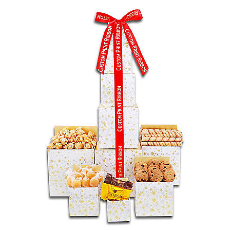Ultimate Holiday Gift 5-Tower with Custom Ribbon (95 Towers)