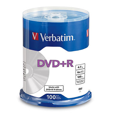 Verbatim DVD+R Life Series 4.7GB 16X, 100pk Spindle