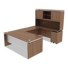 "Alera SedinaAG Series 72"" Desk & Credenza with Stack-on Storage, Select Color"