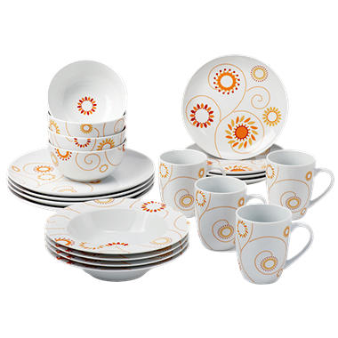 Rachael Ray 20 Piece Pinwheel Dinnerware Set - Orange/Yellow  sc 1 st  Samu0027s Club & Rachael Ray 20 Piece Pinwheel Dinnerware Set - Orange/Yellow - Samu0027s ...