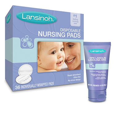 Lansinoh Ultra Soft Disposable Nursing Pads and HPA Lanolin