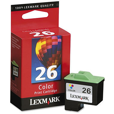 Lexmark 26 Ink Cartridge - Tri-Color, 290 Page Yield