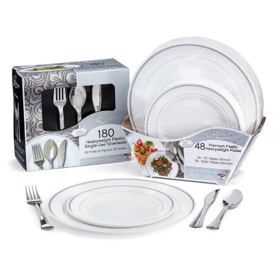 Zoom \u0026 Pan  sc 1 st  Sam\u0027s Club & Masterpiece and Reflections Premium Plastic Disposable Dining Set ...