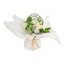 Mini Arrangement, Elegant White Roses (5 arrangements)
