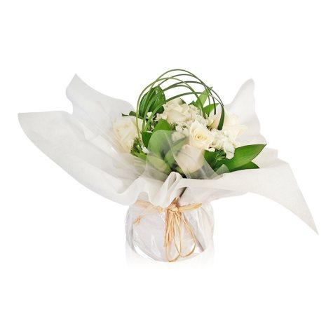 Mini Arrangement, Elegant White Roses (5 arrangements)