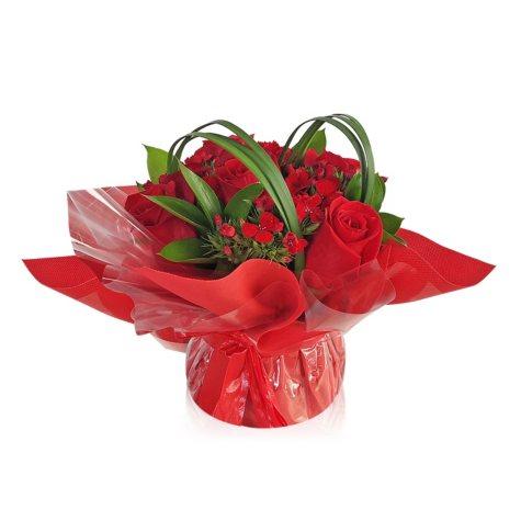 Mini Arrangement, Elegant Red Roses (5 arrangements)