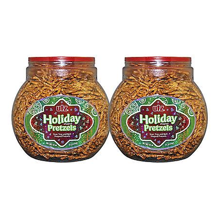 Utz Holiday Shaped Pretzels Barrels (44 oz., 2 ct.)