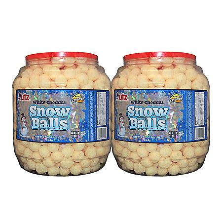 Utz White Cheddar Snowballs Barrels (27 oz., 2 pk.)