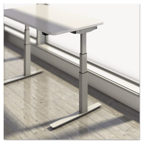 Mayline - RGE Electric Height Adjustable Desk -  Storm Gray/Silver
