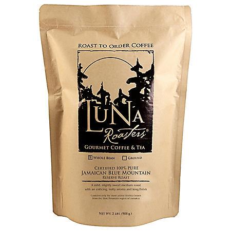 Luna Roasters Artisan Roast Whole Bean Coffee, Jamaican Blue Mountain (2 lb.)