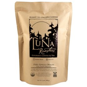 Luna Roasters 100% Artisan Roast Coffee, Ground,  Choose Flavor (2 lb.)