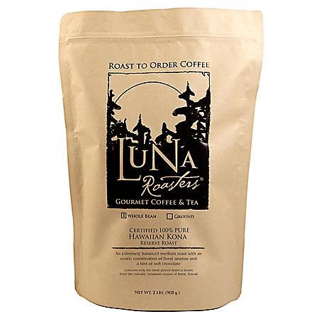 Luna Roasters Whole Bean Artisan Roast Coffee, Select Flavor (2 lb.)