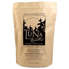 Luna Roasters Artisan Roast Coffee, Whole Bean - Choose Flavor (2 lb.)