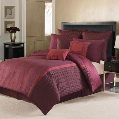 Nicole Miller 9 Piece Comforter Set Queen