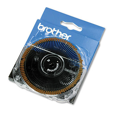 Brother Brougham 10-Pitch Cassette Daisywheel for Brother Typewriters, Word Processors