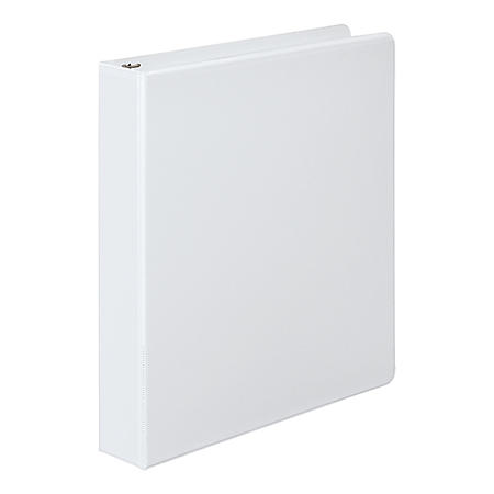 "Wilson Jones - 362 Basic Round Ring View Binder, 1"" Capacity -  White"